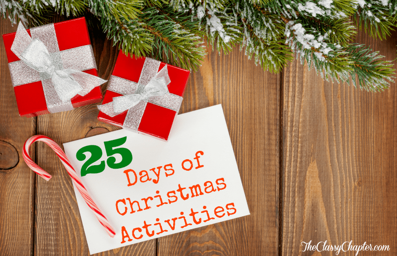 Stay entertained the entire month of December with these 25 activities.