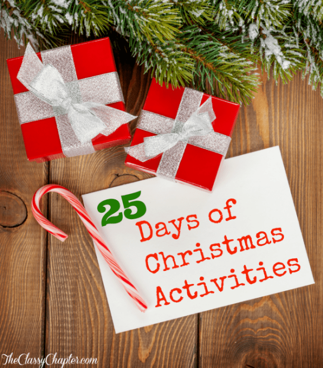 This list has 25 different activities to do with your family during the holiday season! This list will give you plenty of stuff to do over the next 25 days!