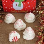 Peppermint Meringue Cookies are to die for! Everyone will be asking for more!