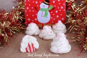 Easy Christmas Cookies | Peppermint Meringue Cookies