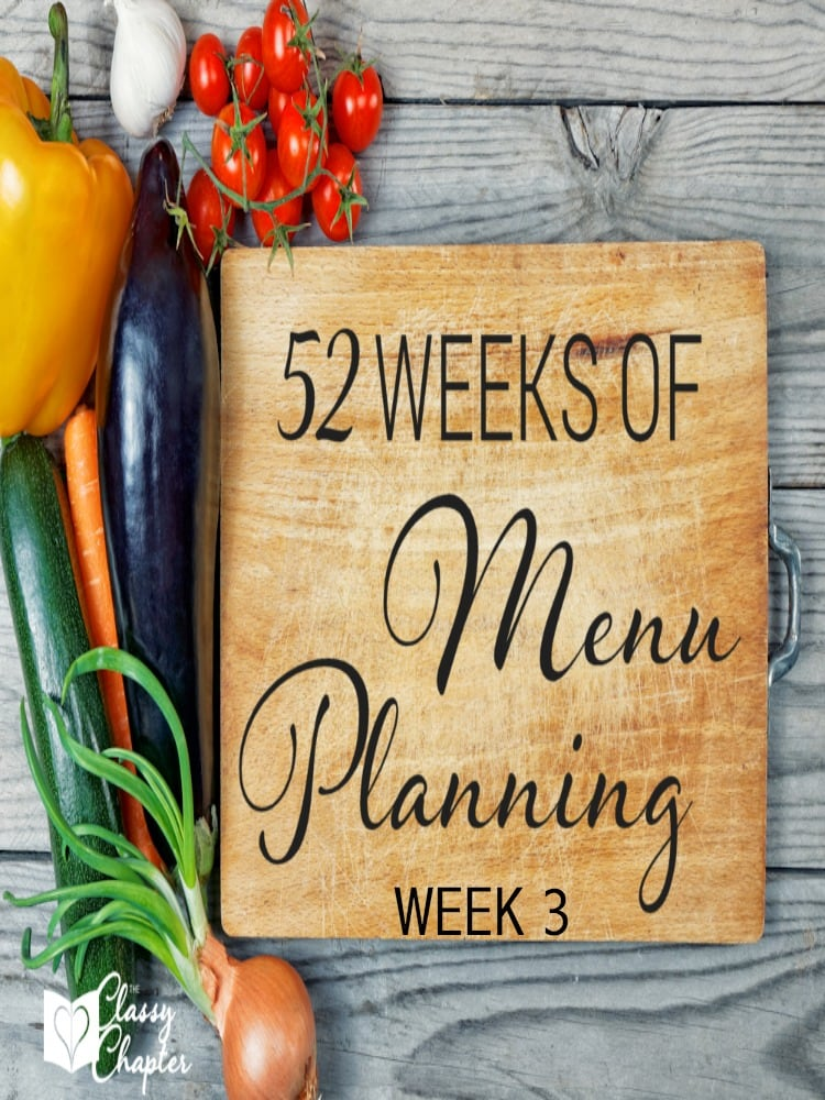Week 3 of meal planning ideas. Can't wait to try the recipe listed on Friday!