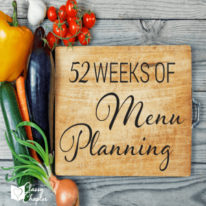 52 Weeks of Meal Planning (Week 1)