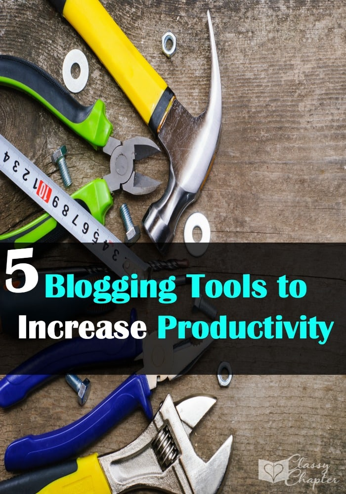 Productivity is key as a blogger. These 5 tools are perfect for helping you get more done!