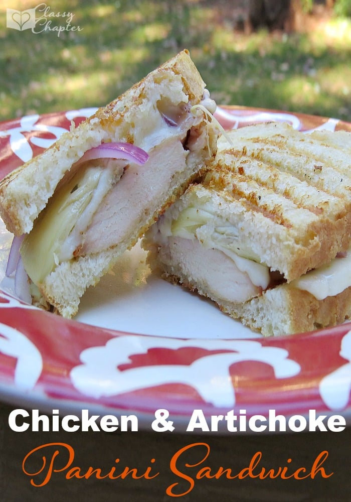 This chicken & artichoke panini sandwich is so easy to make and absolutely delicious. It's a must try!