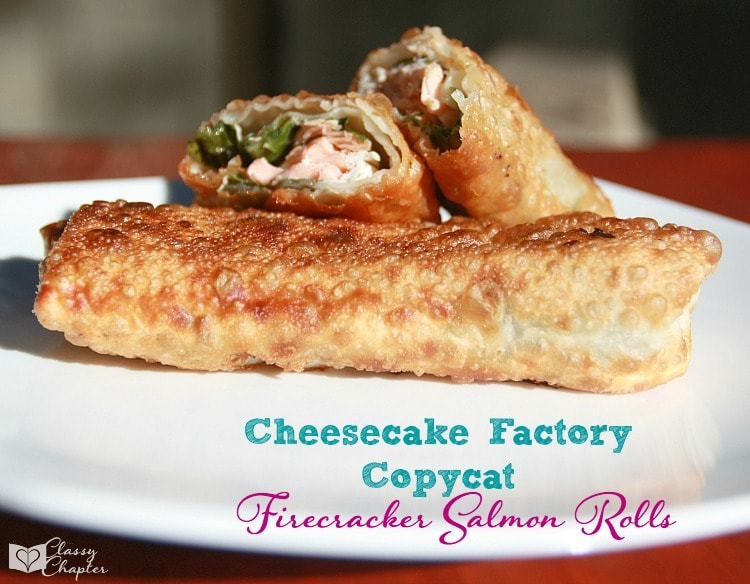 Copycat Cheesecake Factory salmon rolls. These are amazing!