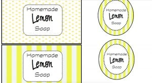 Homemade Lemon Soap Printable