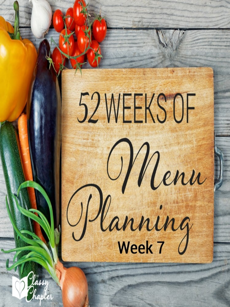 Menu planning saves you money and time! Check out this weeks menu. So many tasty recipes.