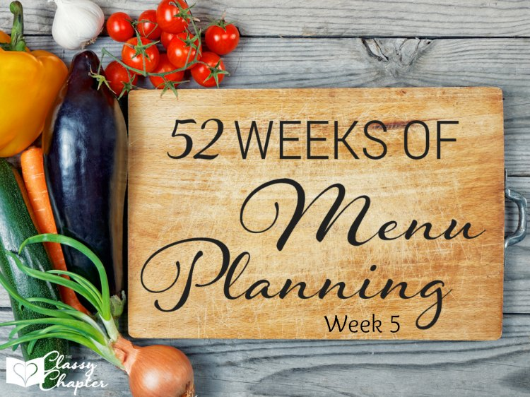 Week 5 of Meal Planning Ideas. Can't wait to cook up #1