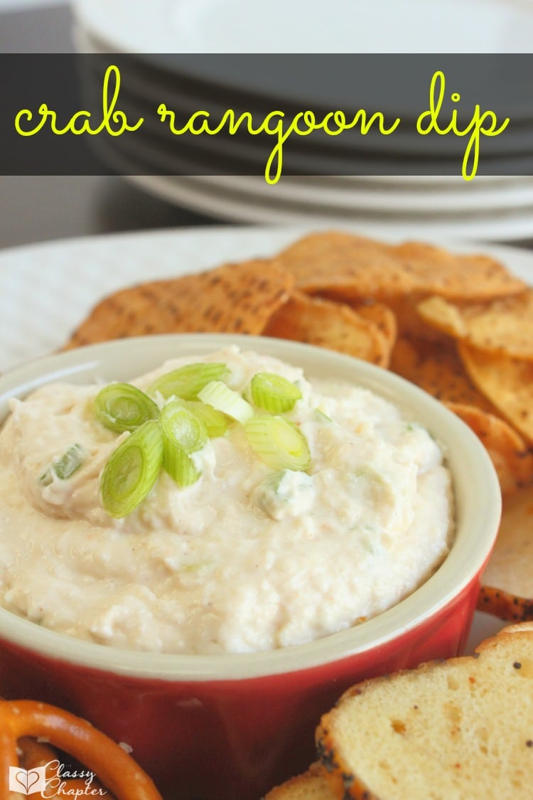 Appetizers are the perfect item to bring to a party! This crab rangoon dip is an easy recipe and is perfect for summer cookouts.
