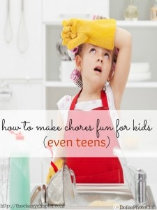 Chores are a hot topic for every family. You have to decide your chores for kids by age, get them to do the chores and decide if you should pay them allowance. Make chore time easier for you and the kids with these 5 tips on making chores fun for kids!