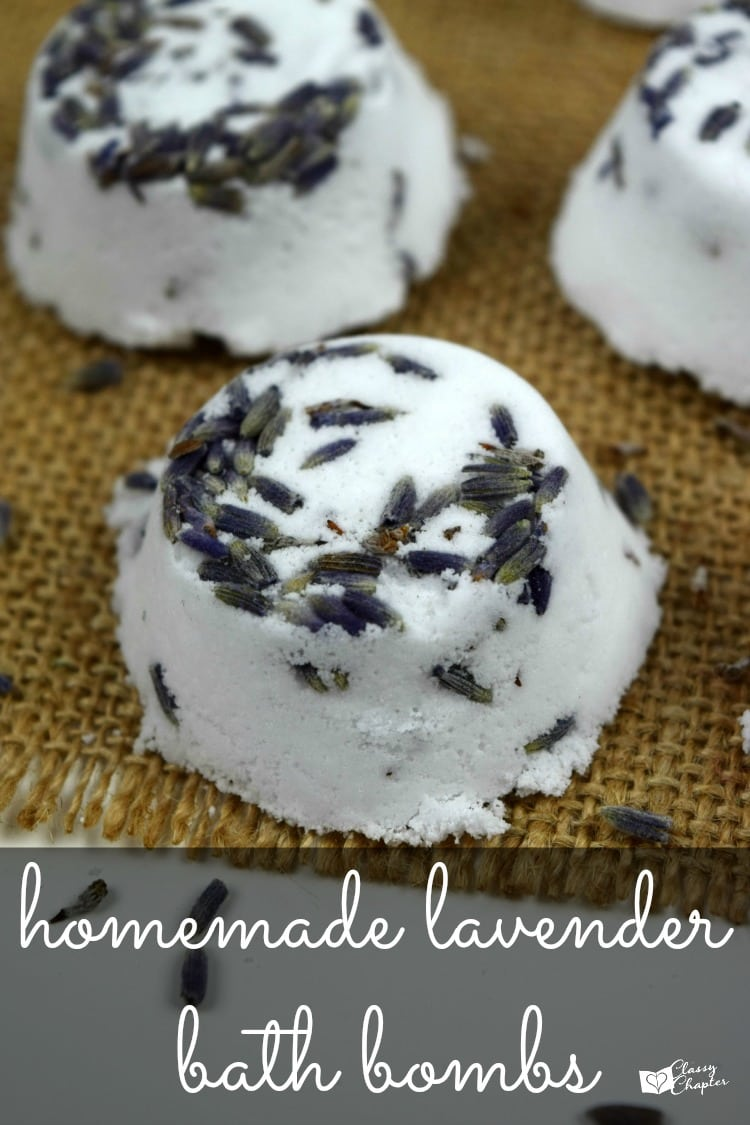 Homemade Lavender Bath Bombs are a perfect DIY gift for Mothers Day!