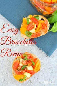 Looking for an easy bruschetta recipe? This bruschetta recipe is the perfect easy appetizer or side dish.