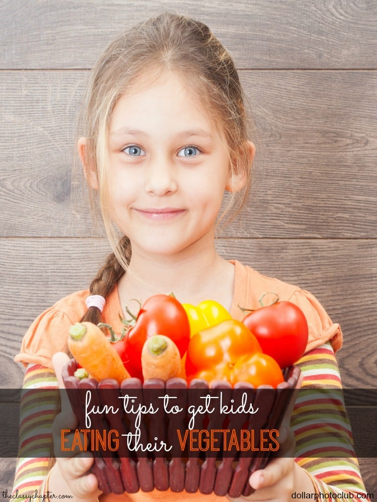 Do you struggle with getting your kids to eat their vegetables? Here are some fun tips and tricks that will make dinner time with the kids much easier!