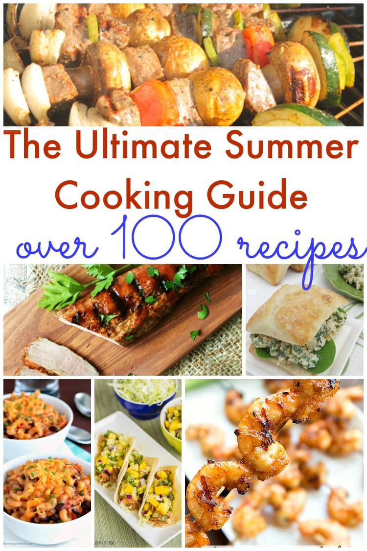 Do you need some summer recipes? This list has over a 100 summer time recipes perfect for grilling, bbq parties and much more!