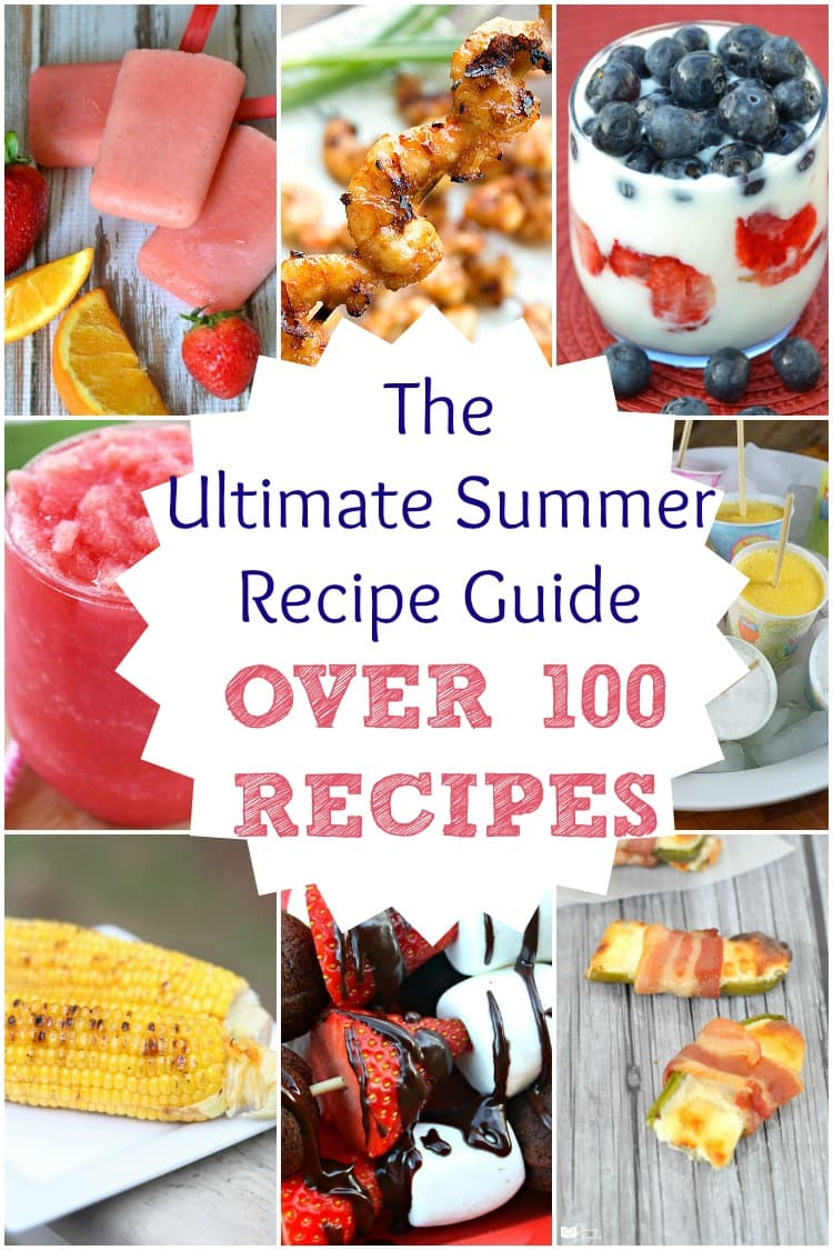 Need some recipe inspiration? These easy summer recipes are perfect for your summer parties! Over 100 easy recipes.