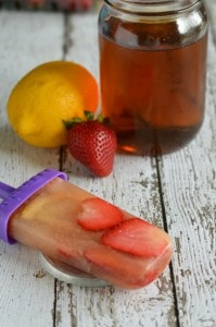Easy Dessert: Strawberry Tea Popsicles