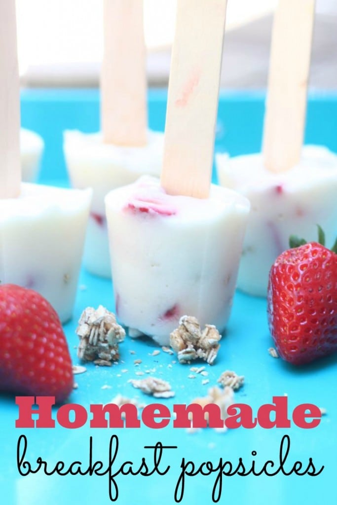 Need an easy breakfast idea? These breakfast popsicles are delicious and the kids think they are getting a real treat so early in the morning.