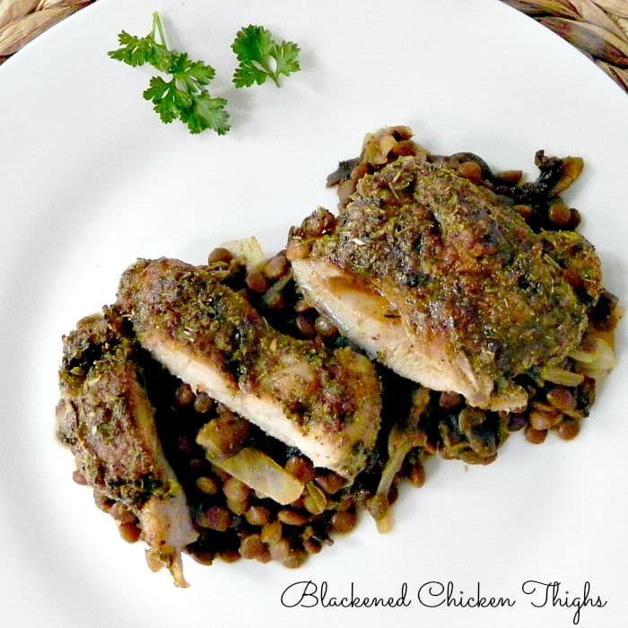 Blackened Chicken Thighs - an easy weeknight dinner