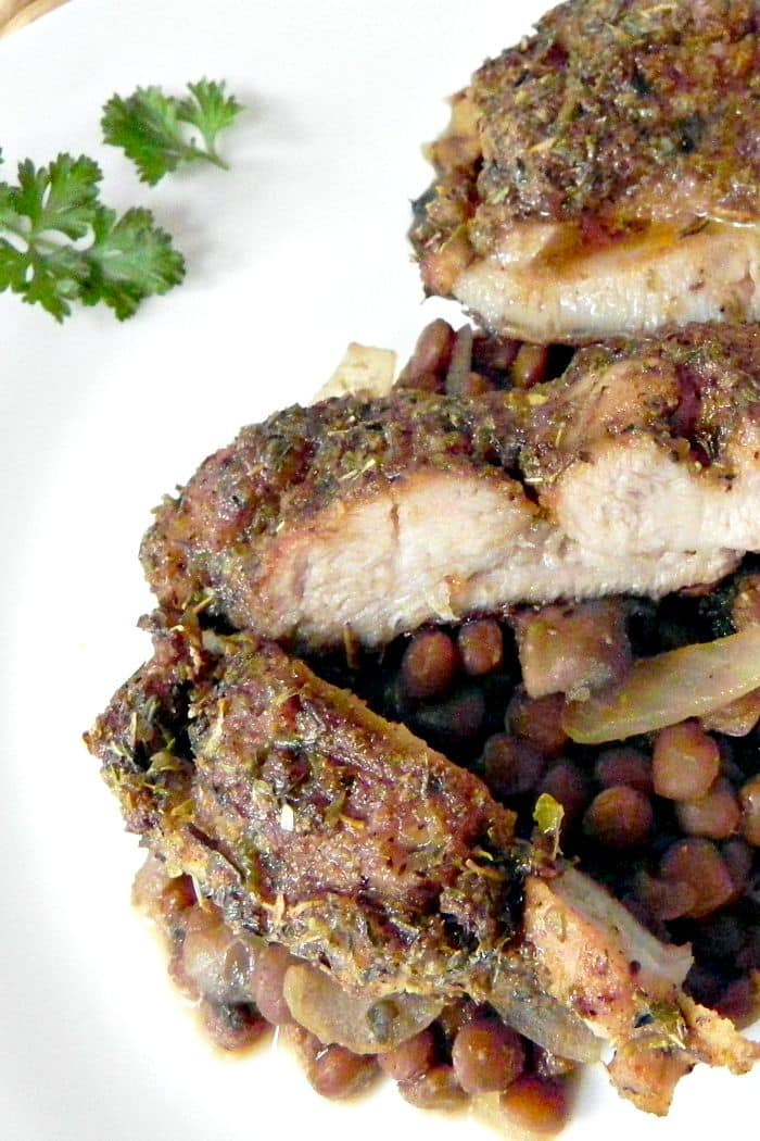 Blackened Chicken Thighs - an easy weeknight dish