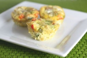 Ham and Vegetable Frittata Muffins