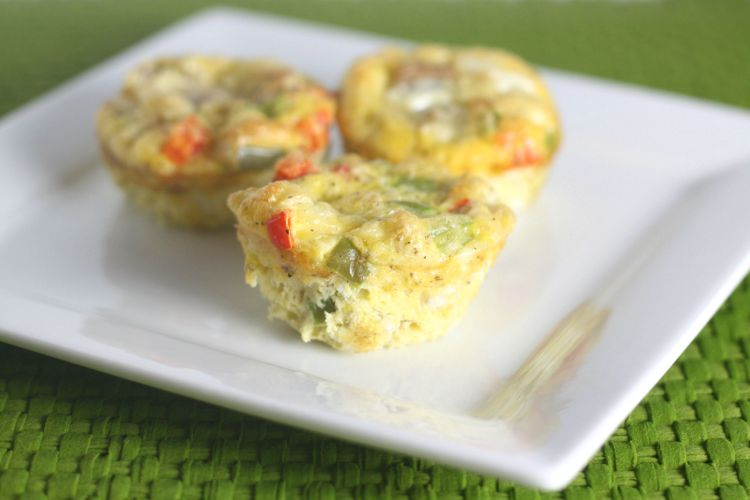 Here's a quick and easy breakfast option. These hame and vegetable frittatas are a perfect on the go breakfast or snack option.