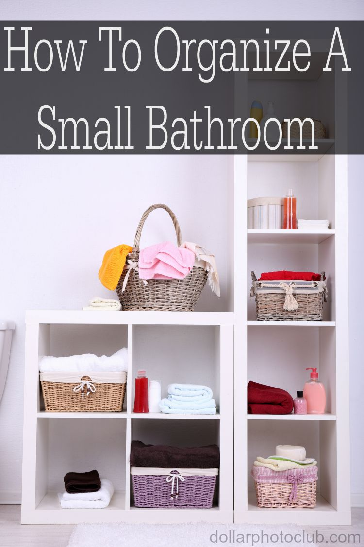 Having a small bathroom is not fun! These tips will get any small bathroom organized.
