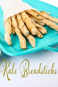 Homemade Garlic and Kale Breadsticks