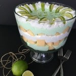 Need an easy no bake dessert recipe? This one is delicious and beautiful! Try this key lime trifle recipe that's ready in under 20 minutes.