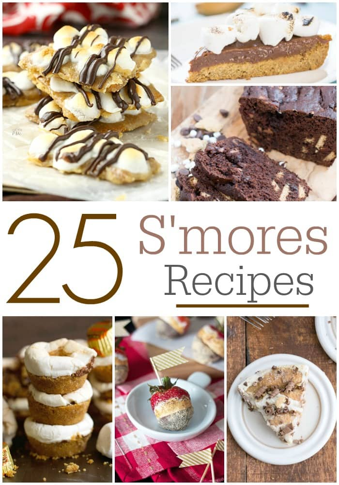 S'mores are the best dessert ever! These 25 s'mores recipes are perfect for anytime of the year.