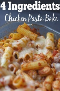 4 Ingredient Chicken Pasta Bake