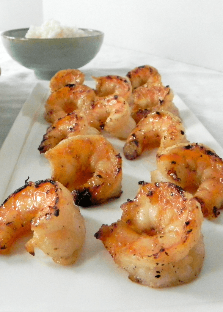 Grilled Coconut Honey Lime Shrimp - your family will love it