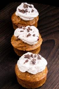 Chocolate Chip Pumpkin Muffins with Cranberry Buttercream | Easy Dessert Recipe