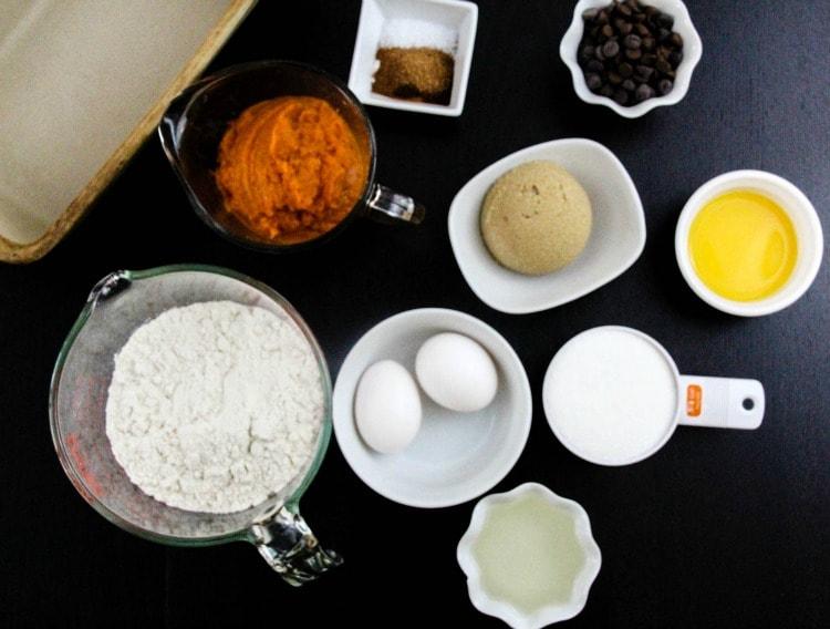 Chocolate Chip Pumpkin Muffins with Cranberry Buttercream   Easy Dessert Recipe