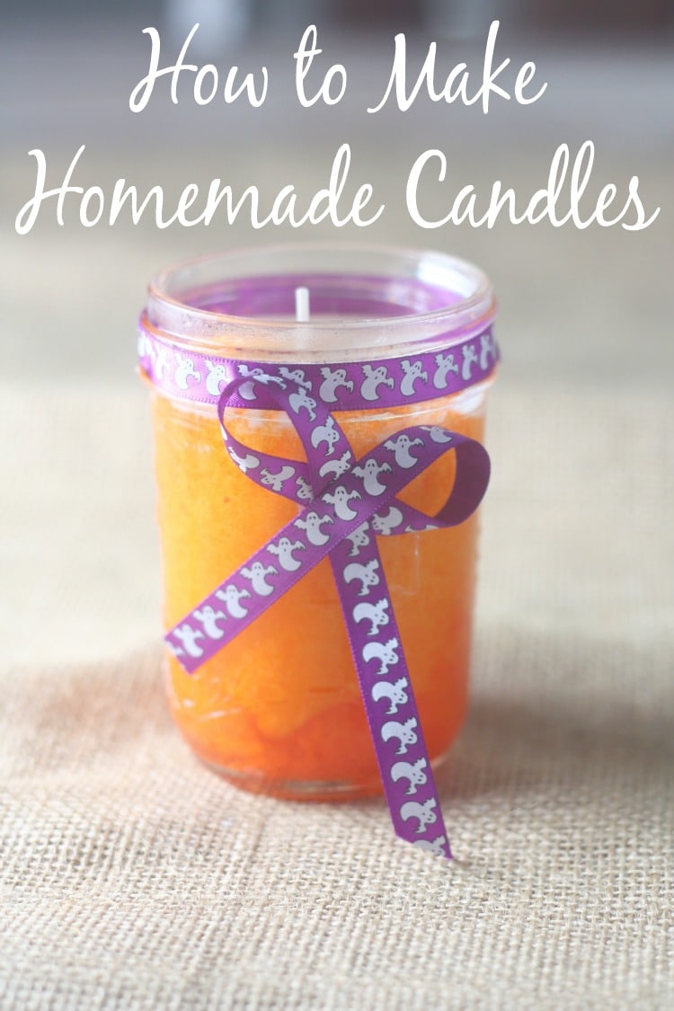 Want a fun craft to do with the kids? These homemade candles are an easy and cheap homemade craft idea. They can be scented with any smell you'd like and they look great in a mason jar! We love making these homemade candles as Christmas presents or as a rainy day craft.