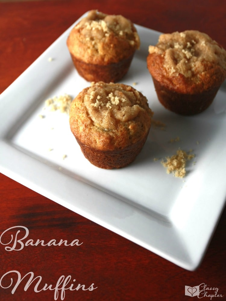 These pumpkin spice muffins are delicious! You'll love the pumpkin spice flavor in these muffins, making it the perfect easy dessert for fall. These muffins also have banana in them and are so yummy!