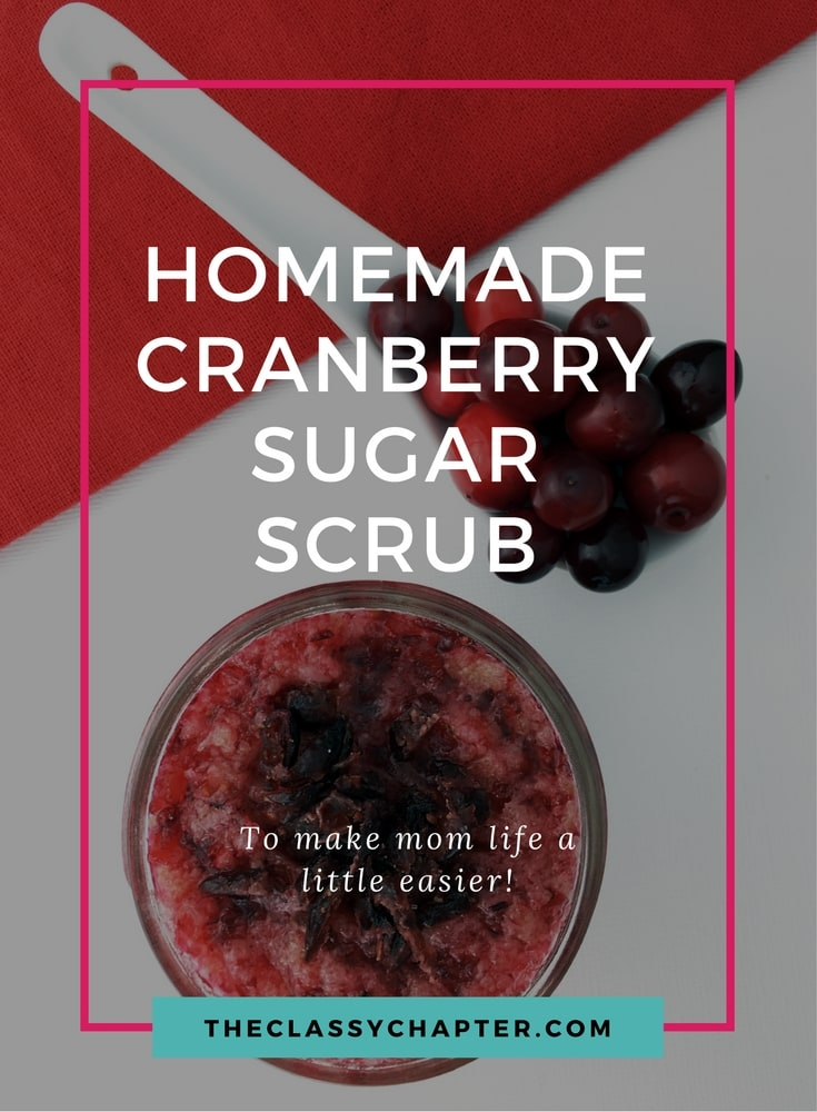 This DIY beauty product is so easy to make. You'll love this homemade cranberry sugar scrub recipe.