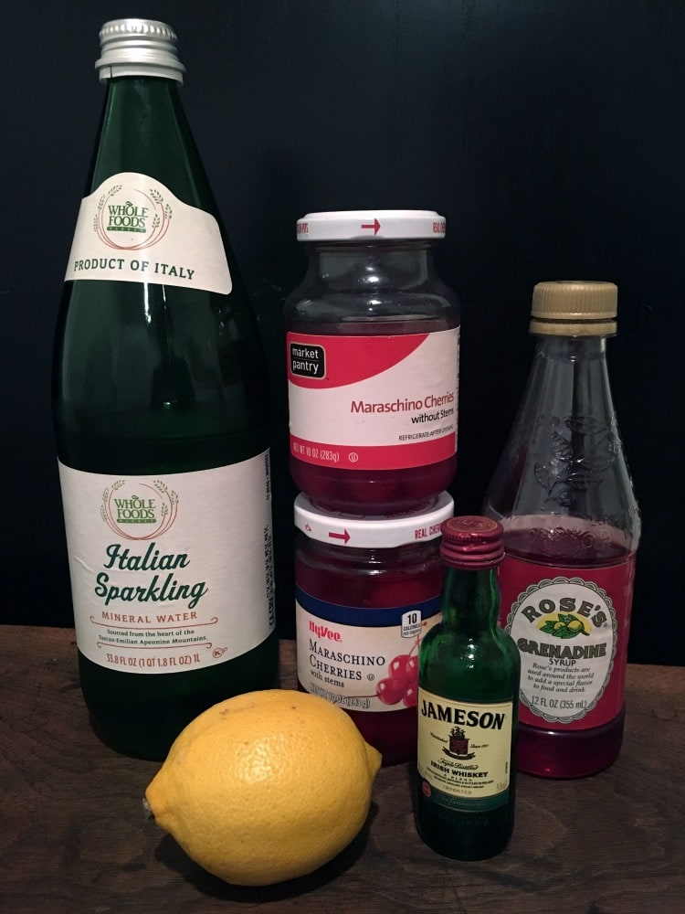 Cherry & Whiskey Cocktail Ingredients