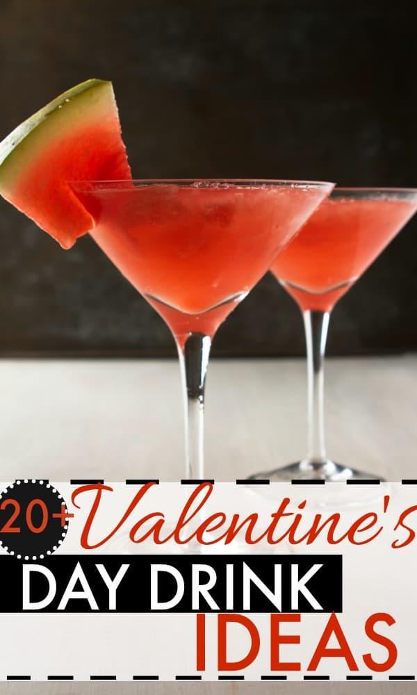 Yummy Valentine's Day drink ideas. Perfect Valentine's Day date drinks.