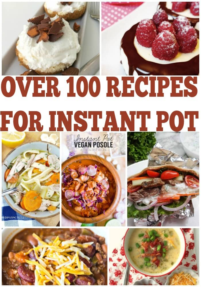 These easy instant pot recipes features instant pot desserts, pressure cooker beef recipes and much more!