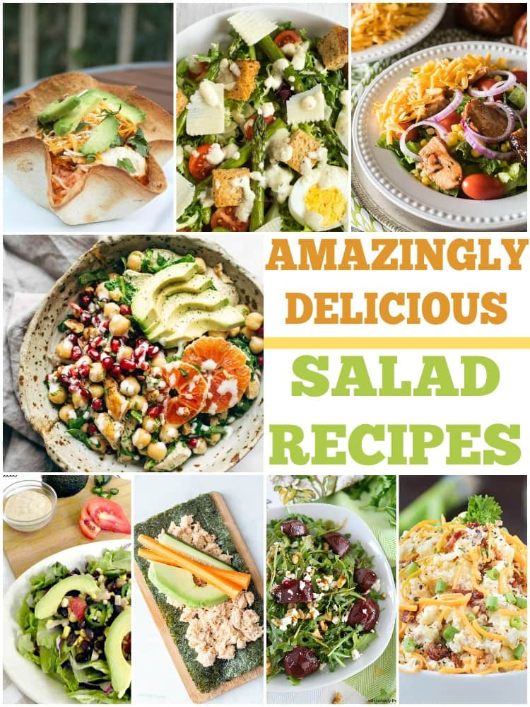 Tired of the same old salad? Give these tasty salad recipes a try! There are even some healthy salad recipe ideas on this list.