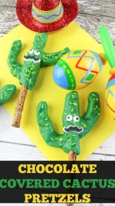 Chocolate Covered Cactus Pretzels – Cinco De Mayo Dessert