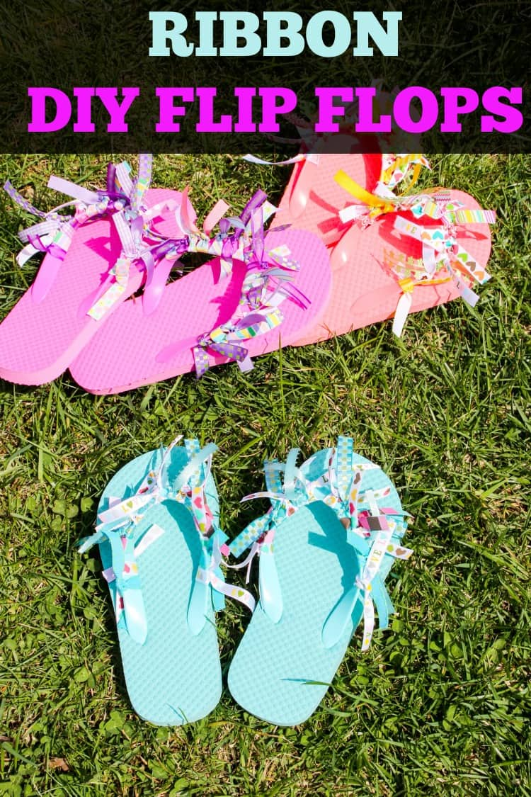 Diy Ribbon Flip Flops Easy Diy Crafts