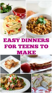 Need to get your kids in the kitchen? Try these easy dinners for teens to make. Kids cooking | recipes for kids | recipes kids can cook