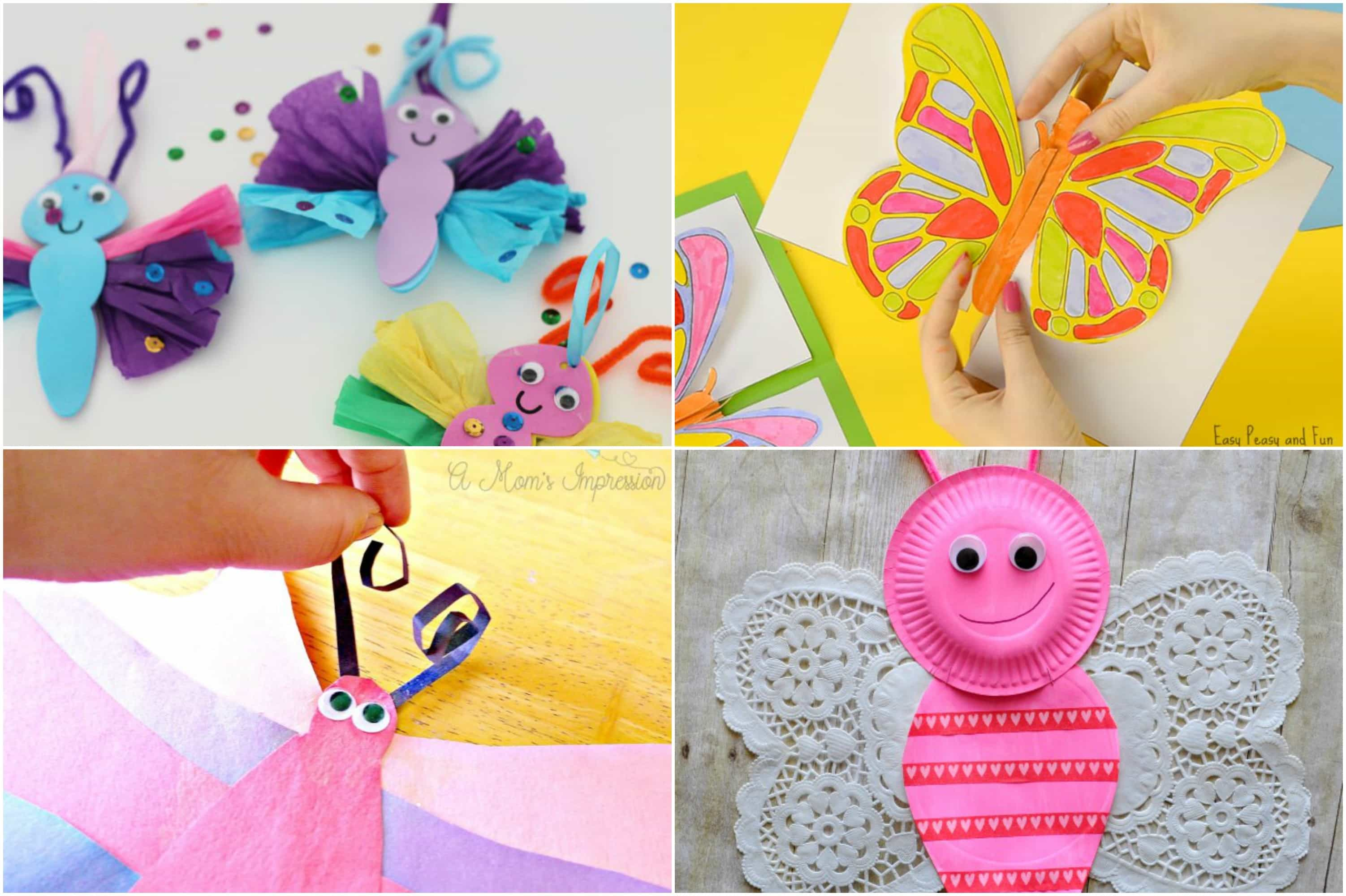 Easy butterfly craft ideas for kids easy diy crafts for Butterfly art and craft