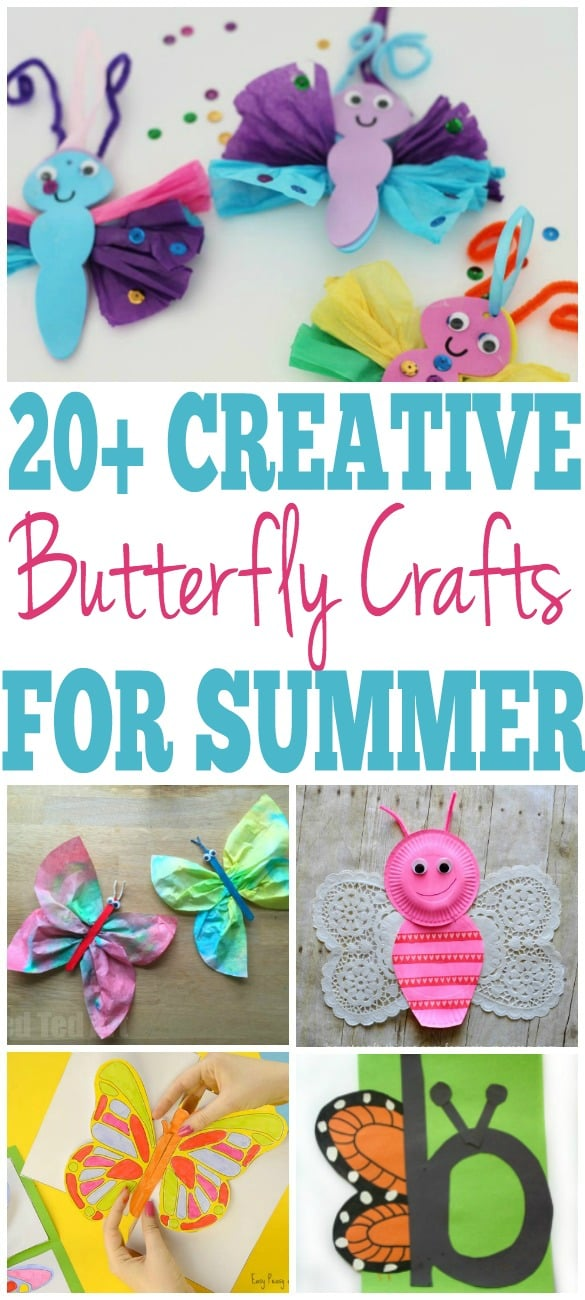 Easy Butterfly Craft Ideas For Kids Easy Diy Crafts