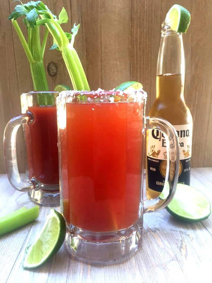 Chavela Drink! Looking for a fun party drink? Tasty and easy alcoholic drinks are perfect any adult party. This easy chavela drink recipe is made using beer. It's spicy and will remind you of a bloody mary with beer.