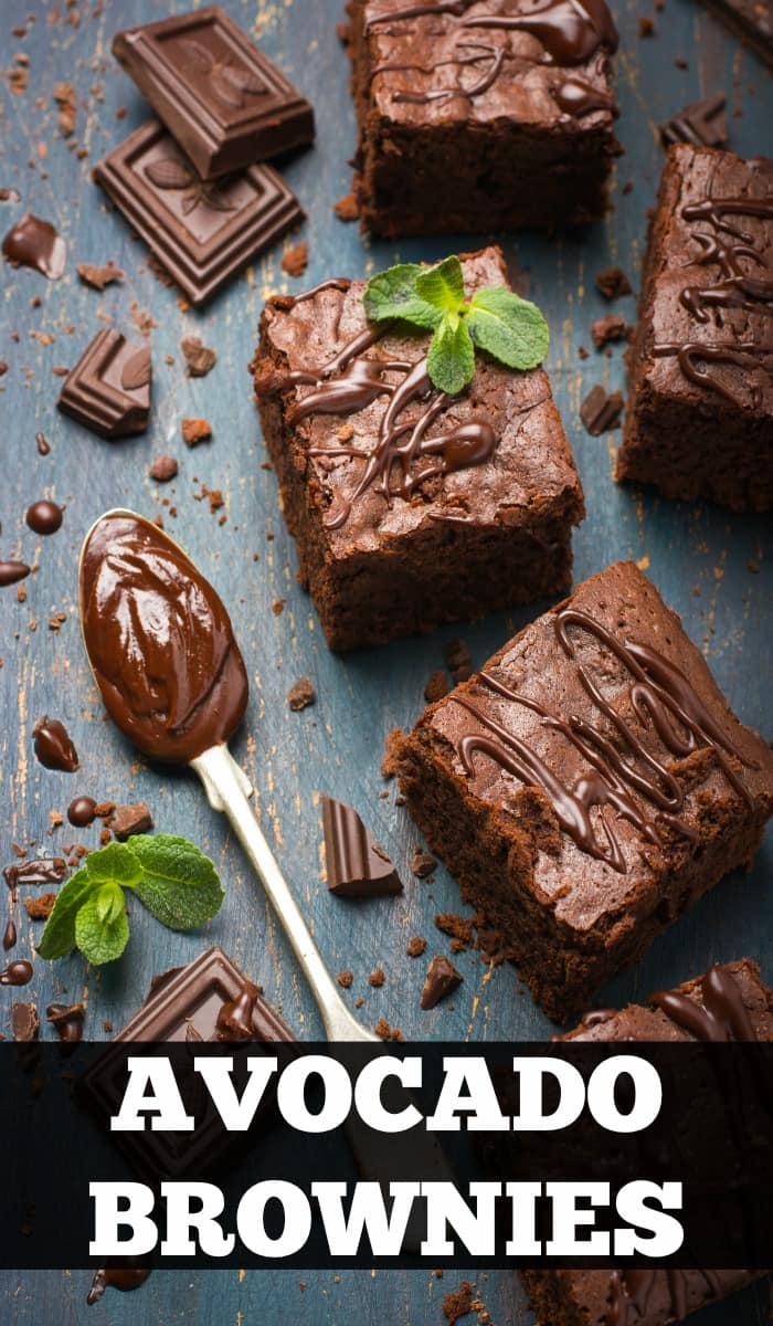 Yummy avocado brownies! Healthy desserts, easy dessert, brownie recipes, low-carb desserts