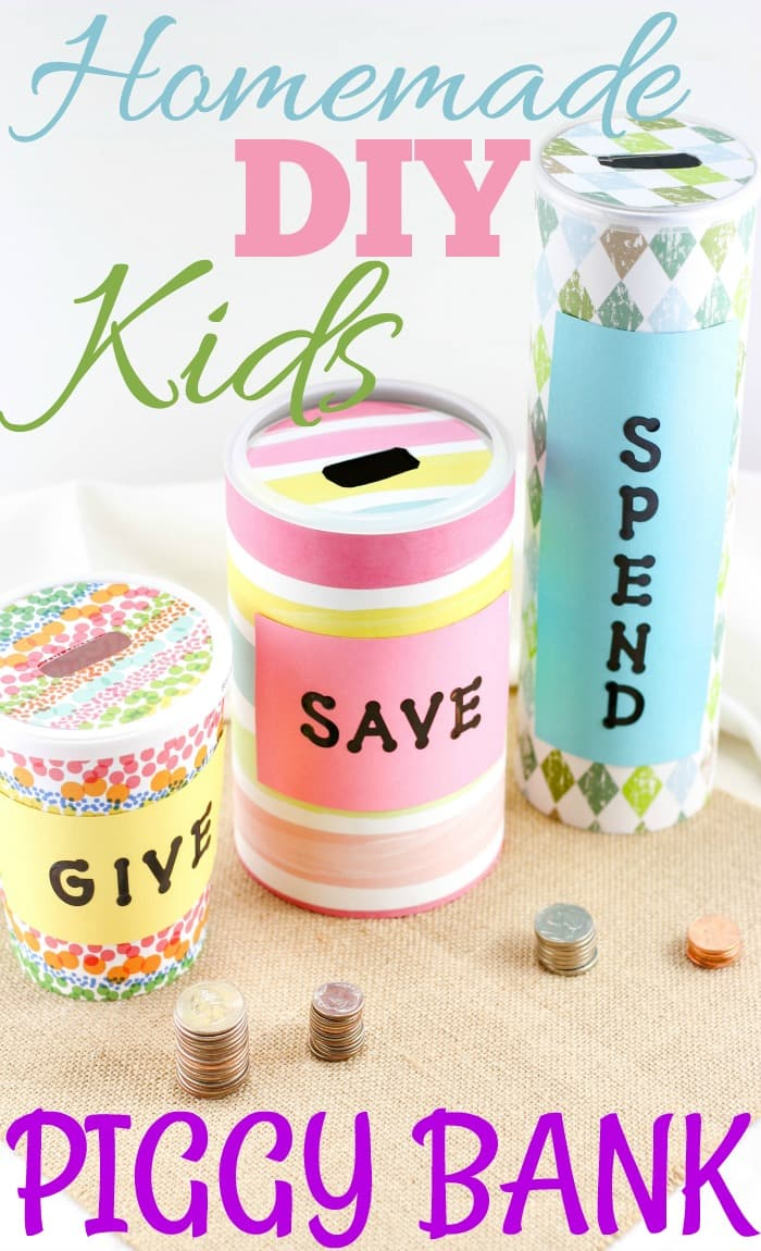 Homemade piggy bank ideas easy crafts for kids for Doing crafts at home for money