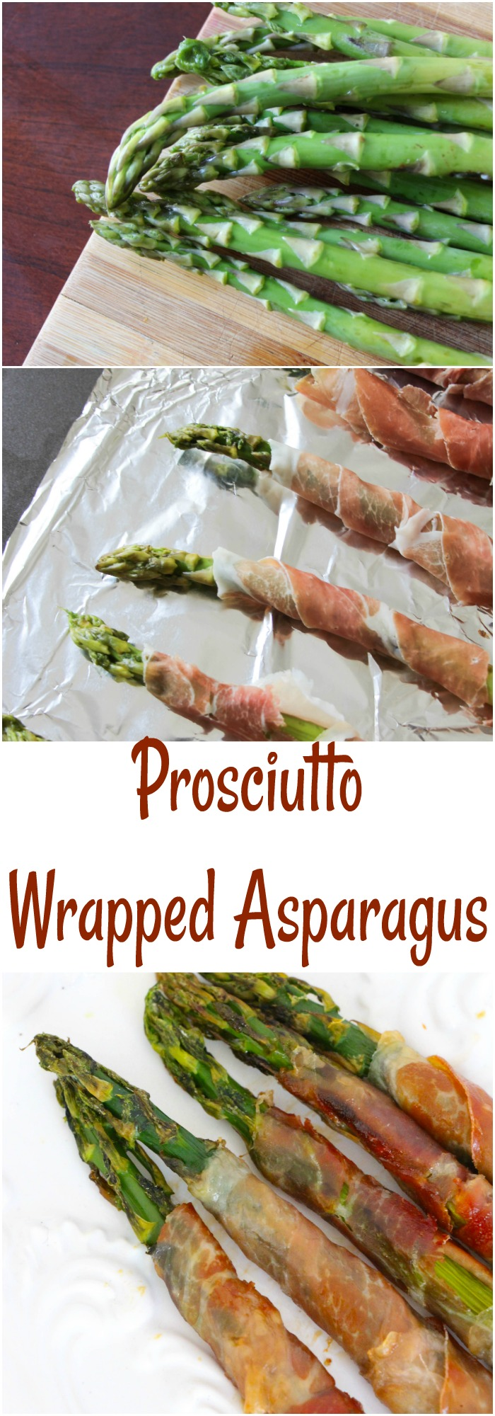 This asparagus wrapped in prosciutto is an easy appetizer and so tasty!