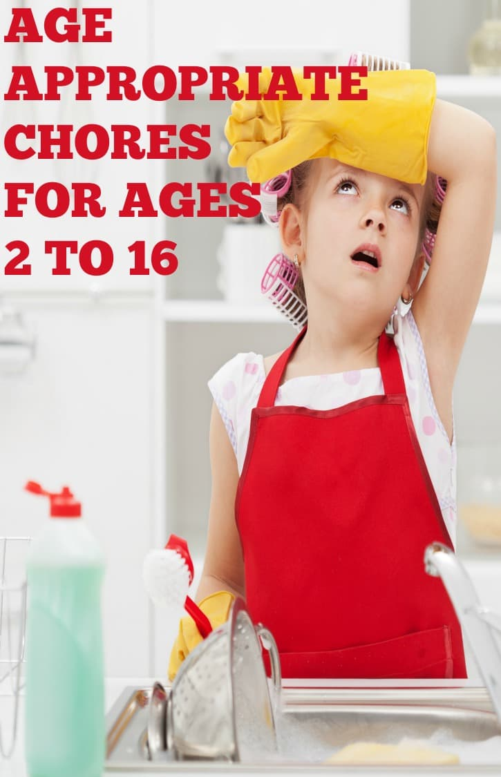 Chores for kids by age with tips on how to get your kids to do chores. Chore Charts | Chores for Teens | Chores for toddlers